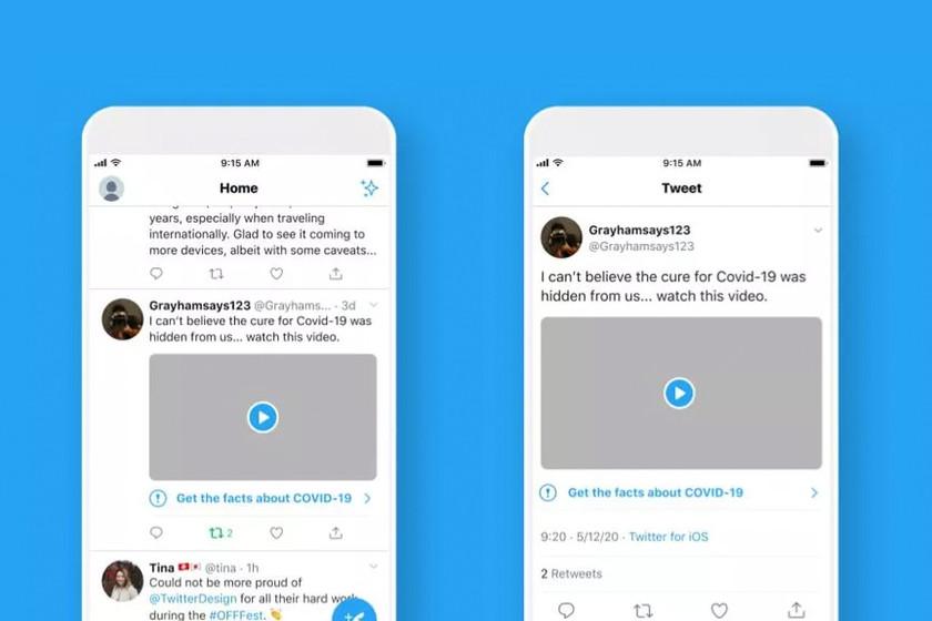 Twitter empieza a mostrar advertencias en tweets que contengan desinformación sobre el coronavirus