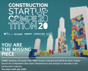 Cinco líderes de la industria de la construcción lanzan Construction Startup Competition 2020